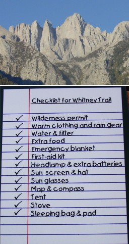 [Mount Whitney and checklist]