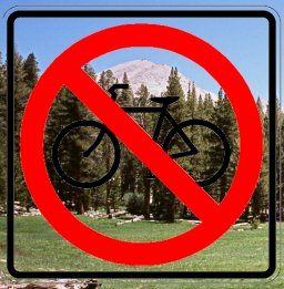 [No Bikes in Wilderness]
