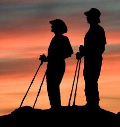 [Pole Hiker's silhouette]