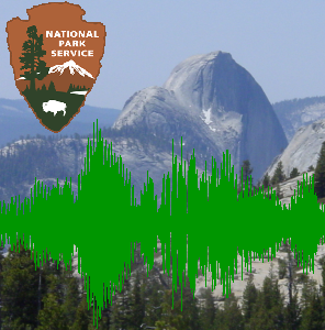 [Half Dome, NPS Logo, and audio waveform]