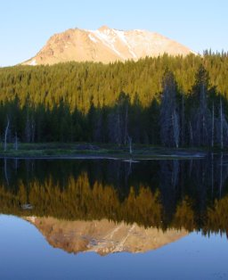 [Lassen Peak from Hat Lake]