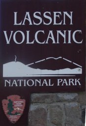 [Lassen Volcanic National Park sign]