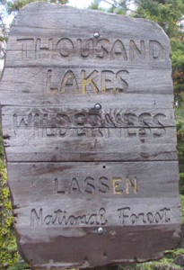 [Thousand Lakes Wilderness sign]