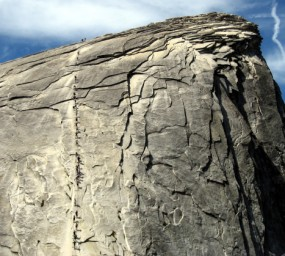 [Cable route on Half Dome]