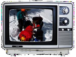 [Outdoor adventure tragedy on TV.]
