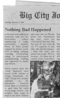 [Boring story in the newspaper?]